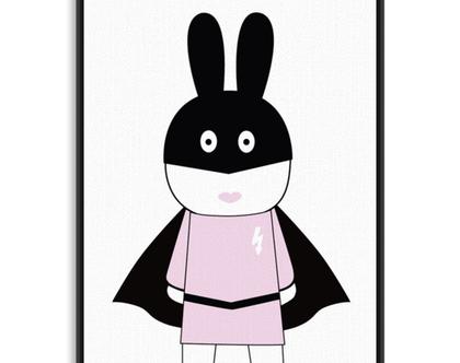 תמונה ארנבת גיבורת על