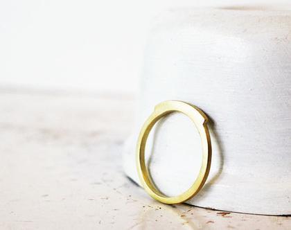 טבעת שטוחה זהב 14k