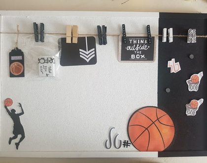 לוח שעם כדורסל שחור לבן לנוער | לוח חדר TEENAGE | עיצוב חדרי ילדים | לוח שעם שחור לבן | לוח מודעות | לוח ממו | חדרי ילדים