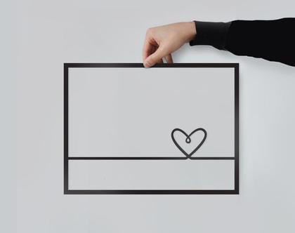 תמונת לב | חיתוך לייזר | עיצוב הבית