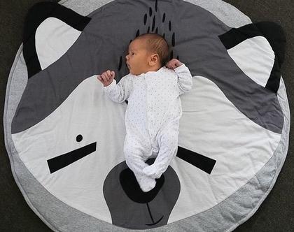 שטיח פעילות/ שטיחון דביבון שחור לבן