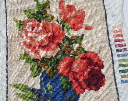 גובלן ורדים רומנטי עבודת יד