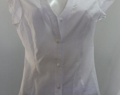 אורלי גולן-חולצה לבנה יפה מכופתרת/ חולצה לנשים / חולצה אלגנטית