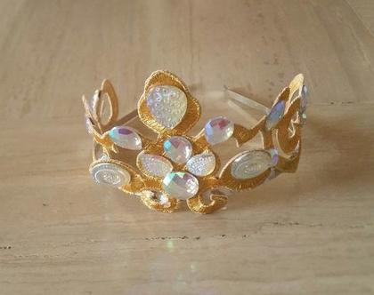 קשת כתר לשיער זהב| כתר זהב | קשת זהב | קשת לילדות | כתר נסיכה | כתר לילדות | קשת לילדות | תחפושת נסיכה | תחפושת לילדה