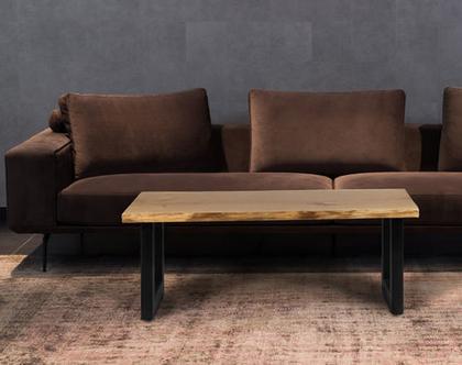 שולחן סלון אלון טבעי