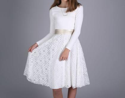 שמלת הדס לבת מצווה של המעצבת שירן סבוראי