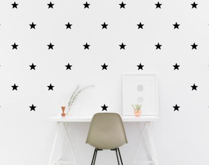 מדבקות כוכבים שחורים | מדבקות לחדר תינוקות | מדבקות קיר כוכבים שחורים | מדבקות לחדרי ילדים | מדבקות קיר | מדבקות לעיצוב הבית
