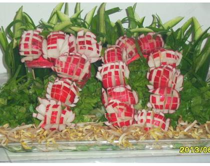 עיצוב ירקות ליום הולדת/יום העצמאות