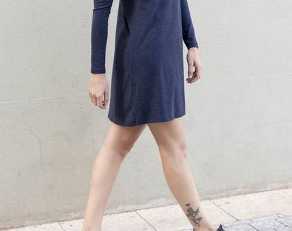 שמלת ניק כחולה  שמלת טישרט   שמלה כחולה  