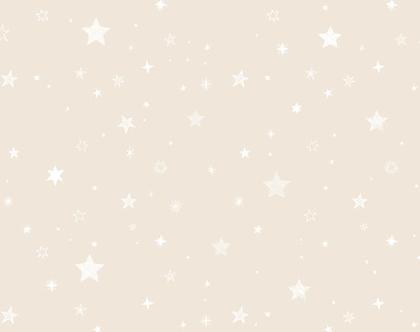 טפט כוכבים בז' לבן