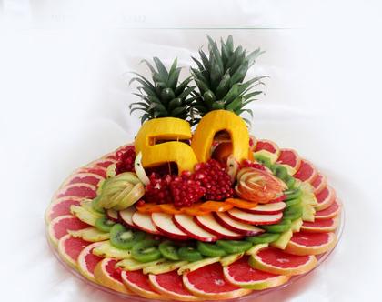 מגש פירות מעוצב מוקדש לאירוע שלכם גודל L