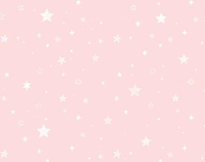 טפט כוכבים ורוד לבן