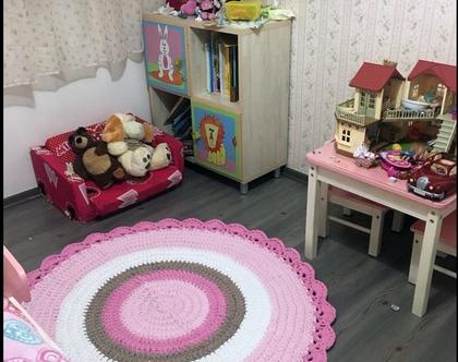 שטיח סרוג קוטר 1.20 מ' /שטיחים סרוגים/שטיח סרוג/שטיח עגול/שטיח לחדר ילדים