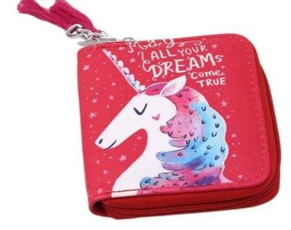 ארנק חד קרן   הדפס צבעוני unicorn   נרתיק קטן   ארנק לילדות   מתנה מקורית לחברה   חד קרן   אקססוריז לבנות