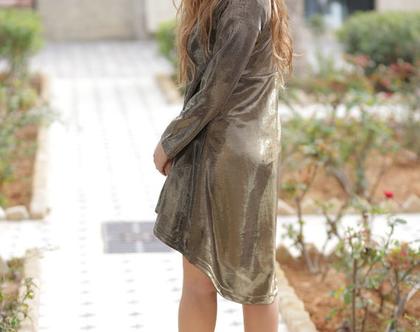 שמלה גקט שמלה נוחה גקט ארוך גקט יחודי
