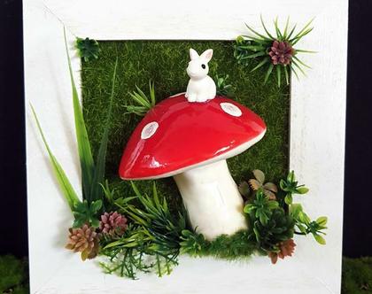 תמונה,פיטריה, ירוק וארנב