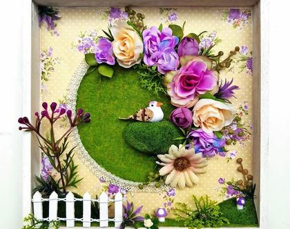 תמונה, רומנטית, פרחים סגולים