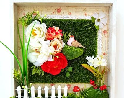 תמונה, רומנטית, פרחים אדומים לבנים