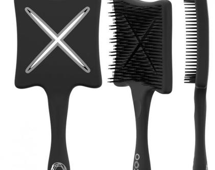 ikoo - Paddle מברשת מרובעת שחורה
