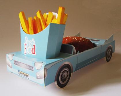 6 מכוניות תלת מימד להגשה   תכלת   יום הולדת   מסיבות   כלי הגשה   חד פעמי מעוצב   עיצוב שולחן יום הולדת