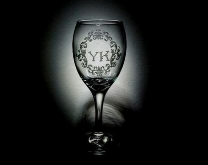 כוס יין, מתנות לגבר, סגנון וינטאג', חריטה אומנותית בעבודת יד