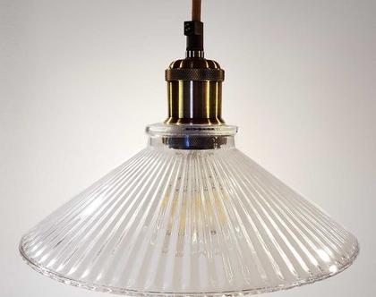 (בן) מנורה תלויה זכוכית רטרו -מנורת תיקרה-גוף תאורה לאי במטבח-גוף תאורה מעל פינת אוכל-אהיל זכוכית תלוי