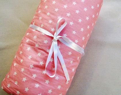 שמיכת חורף מפנקת לתינוקת כוכבים בורוד, שמיכת עגלה, שמיכה מתנה לתינוק, מתנת לידה, מתנה ליולדת, מתנה לתינוק שנולד