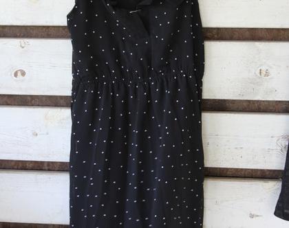שלומית אופיר-שמלת שיפון שחורה