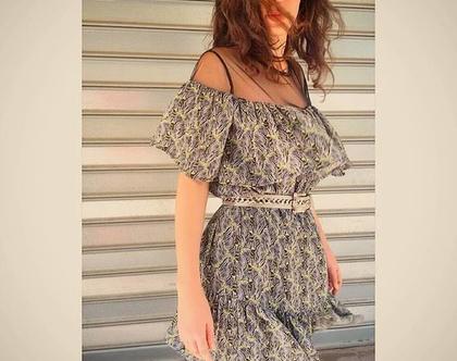 שמלת צ'ה צ'ה צ'ה זברה, שמלת מיני עם וולן