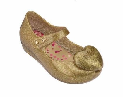 נעלי בובה לב זהב mini Melissa