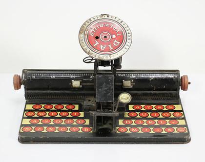 מכונת כתיבה צעצוע משנות ה-30, מכונת כתיבה לילד, מכונת כתיבה עתיקה