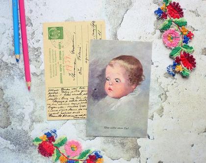 סט גלויות וינטאג' מספר 6. גלויות וינטאג'. צילומים ישנים. אוסף ניירות וינטאג'. מכתבים ישנים.