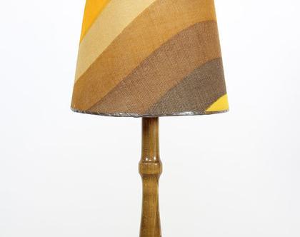 מנורת רצפה וינטאג׳ משנות ה-70, מנורת עץ, מנורת רצפה מעץ