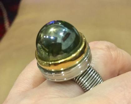 טבעת גולה ירקרקה