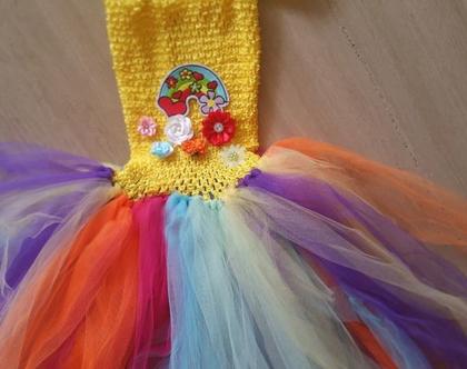 **מבצע 30%** שמלה מידה 4-8 צבע קשת | שמלת טוטו | תחפושת לילדה | תחפושת חד קרן | תחפושות לפורים| תחפושת לילדה | תחפושת לפורים | תחפושת מקורית