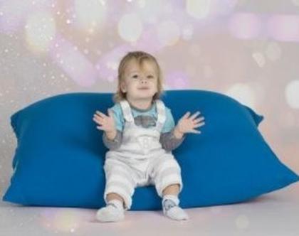 פוף 110/80 לתינוקות וילדים | 2 שכבות | כיסוי נשלף