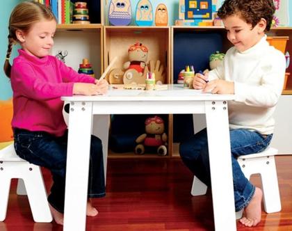 שולחן גיר לילדים מעץ P'kolino