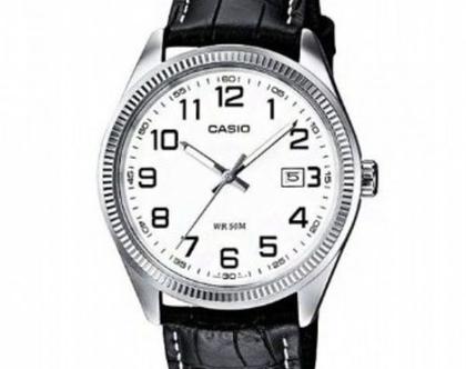 שעון עור כסף - שעון קסיו CASIO | שעון קסיו שחור | שעון שחור | שעון לנערה | שעון איכותי במבצע | שעוני יד | שעון יד | שעוני נשים | שעון כסף