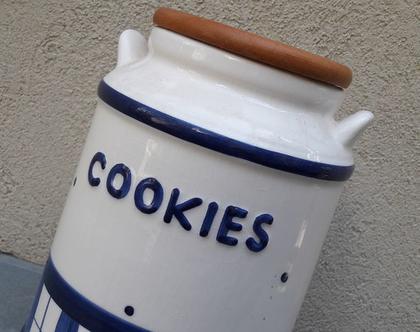 כלי לעוגיות וינטג' | צנצנת עוגיות| עיצוב וינטג'|