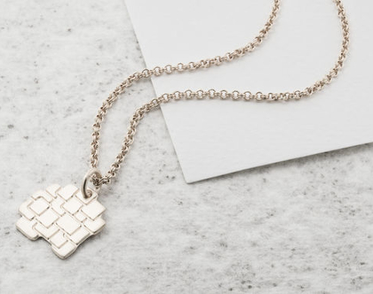 שרשרת זהב מרובעים / שרשרת גיאומטרית / שרשרת זהב/ שרשרת ציפוי זהב/ שרשרת זהב עם תליון מרובעים