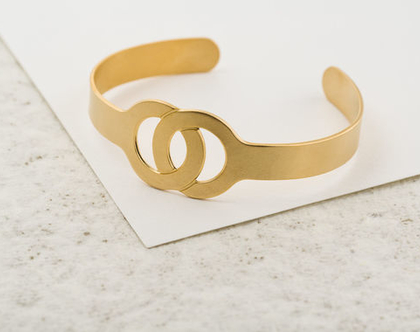 צמיד פתוח מזהב / צמיד אינסוף אהבה / צמיד עיגול מזהב/ צמיד אינפיניטי זהב/ צמיד אהבה מזהב/ צמיד מתנה