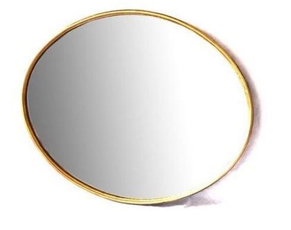 מראה אובאלית ענקית 108X78 | זהב | *** שילוח חינם ***