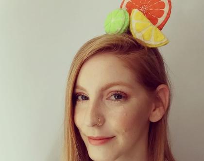 קשת לשיער פירות הדר בעבודת יד
