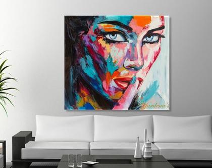 תמונת קנבס ♥ Hypnotic eyes | תמונה מעוצבת לסלון ולמשרד