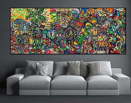 ציור של ענבר רייך, הדפס אומנותי משודרג, גלריה למכירת ציורים, אומנות ישראלית מקורית , ציור גדול לבית, תכשיט לקירות
