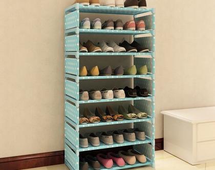 מעמד לנעליים 8 קומות המתאים ל-24 זוגות נעליים, קל משקל ומתאים לכל פינה בבית.