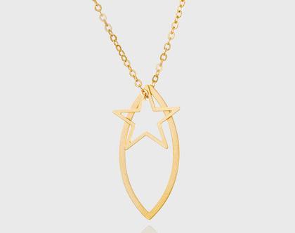 שרשרת זהב כוכב/ שרשרת ציפוי זהב / שרשרת מיוחדת לאישה/ שרשרת מיוחדת כוכב/ שרשרת עדינה ליומיום/ שרשרת זהב עם תליון