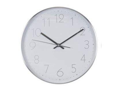שעון קיר כסוף מעוצב | שעון קיר כסף | שעון לבית ולמשרד | שעון למטבח | שעור לחדר