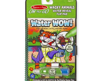 חוברת טוש מים – חיות מתחלפות