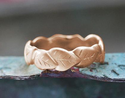 טבעת זהב אדום,, טבעת נישואין עלים, טבעת נישואין ייחודית, טבעת נישואין עדינה, טבעות נישואין מעוצבות, טבעת מעוטרת, טבעת נישואין לאישה